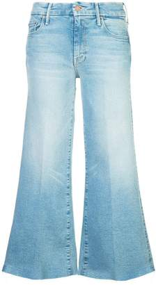 Mother Roller cropped bootcut jeans