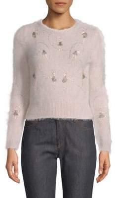 Valentino Embellished Crewneck Sweater