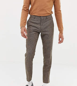 Heart N Dagger slim suit pants in camel wool