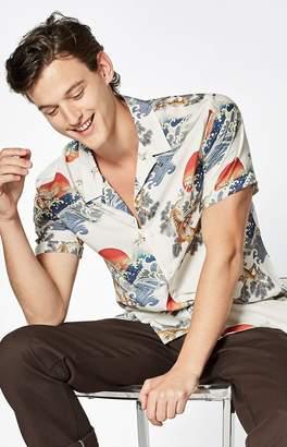 PacSun Sunset Short Sleeve Button Up Camp Shirt