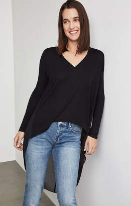 BCBGMAXAZRIA High-Low Knit Top