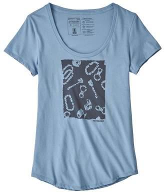 Patagonia Women's Batik Gear Organic Cotton Scoop T-Shirt