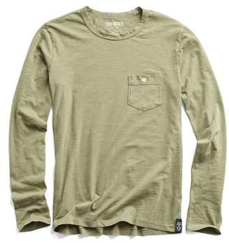 Todd Snyder Made in L.A. Long Sleeve Tee in Cactus