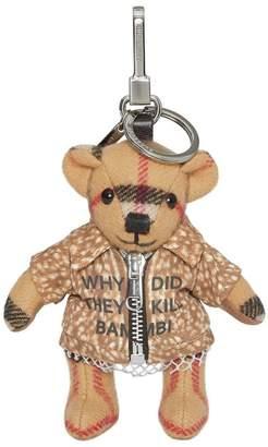 Burberry Dear printed Thomas bear charm keyring