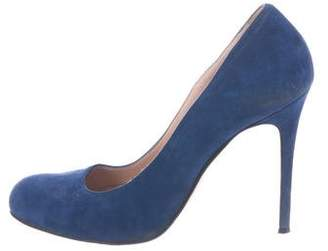 Barneys New York Barney's New York Round-Toe Suede Pumps