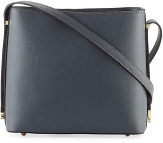 Neiman Marcus Boxy Saffiano Leather Shoulder Bag