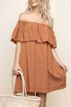 Umgee USA Layered Yoke Dress