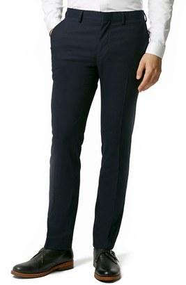 Men's Topman Skinny Fit Navy Blue Suit Trousers $120 thestylecure.com