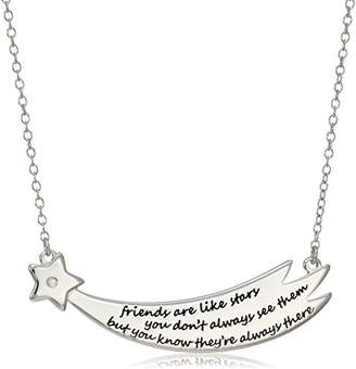 "Sterling Silver Diamond Accent""Friends Are Like Stars"" Necklace"