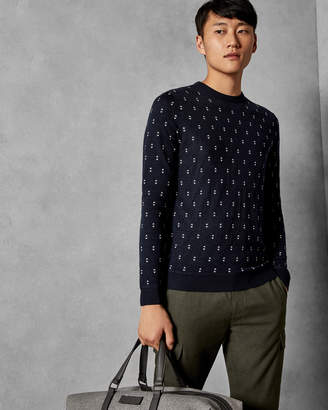 Ted Baker TALKOO Geo knit wool sweater