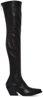 Givenchy 70mm Stretch Leather High Cowboy Boots