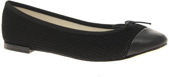 Repetto Flora Crochet Leather Flat Ballet Shoes