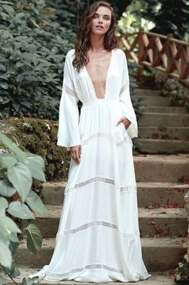 The Jetset Diaries Hammock Maxi Dress in Ivory $268 thestylecure.com