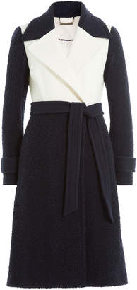 Diane von Furstenberg Two-Tone Wool Coat