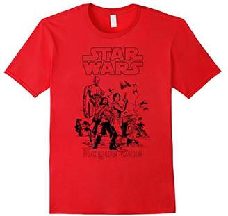 Star Wars Rogue One Line Art Reel Group Graphic T-Shirt