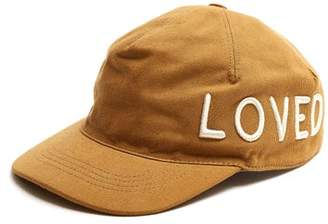 Gucci Logo Embroidered Cotton Cap - Mens - Khaki