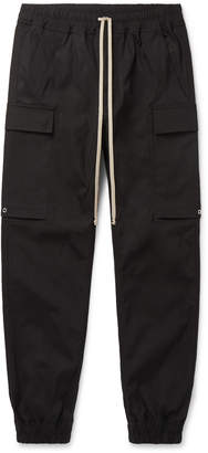 Rick Owens Slim-Fit Stretch-Cotton Cargo Trousers - Men - Black