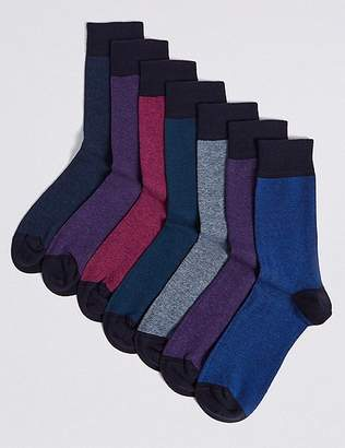 "Marks and Spencer 7 Pack Cool & Freshfeetâ""¢ Assorted Socks"