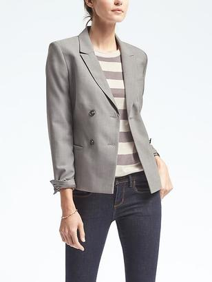 Double Breasted Lightweight Wool Blazer $198 thestylecure.com