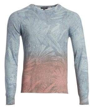 Saks Fifth Avenue MODERN Palm Print Gradient Sweater