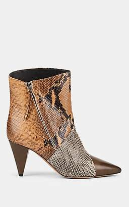 Isabel Marant Women's Latts Leather Ankle Boots - Taupe, Camel