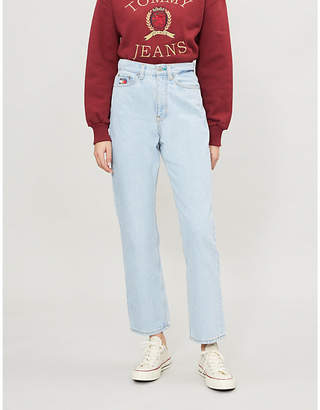 Tommy Jeans CAPSULE High-rise contrast-stitch straight-leg jeans