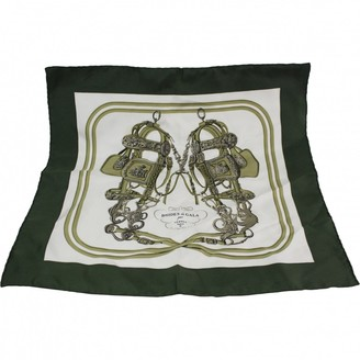 Hermes Green Silk Scarves & pocket squares