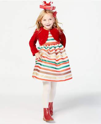 Blueberi Boulevard Toddler Girls 2-Pc. Shrug & Striped Dress Set