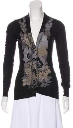 Tory Burch Printed Long Sleeve Cardigan