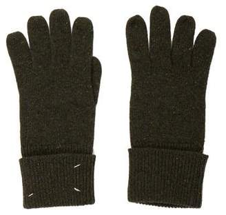 Maison Margiela Wool Leather-Trimmed Gloves