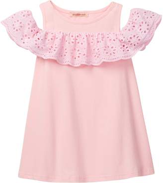 Paulinie Lace Trim Tunic Dress (Toddler & Little Girls)