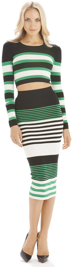 Torn By Ronny Kobo Emma Crop Top Stripes