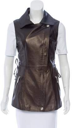 Dawn Levy Leather Longline Vest