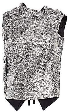Roland Mouret Women's Eugene Sequined Drape Top