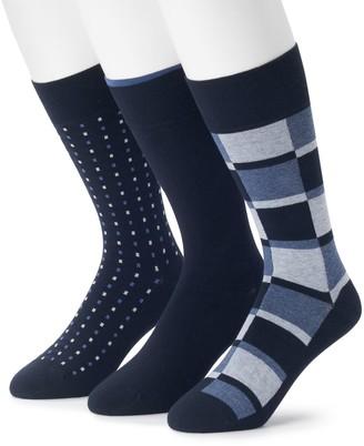 Marc Anthony Men's 3-pack Comfort Cuff Heathered Color block Crew Socks