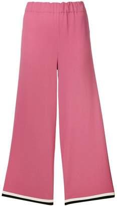 Gucci grosgrain trim cropped trousers