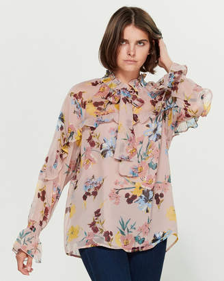 Band of Gypsies Shane Long Sleeve Floral Top