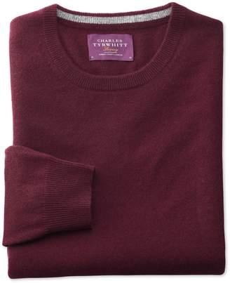 Charles Tyrwhitt Wine Cashmere Crew Neck Sweater Size XL