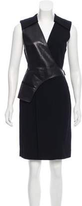 Alexander Wang Sleeveless Leather-Trimmed Dress