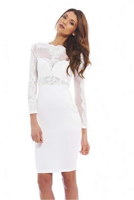 AX Paris Crochet Mesh Top Bodycon Dress