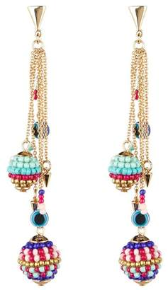 Rebecca Minkoff Beaded Layered Earrings