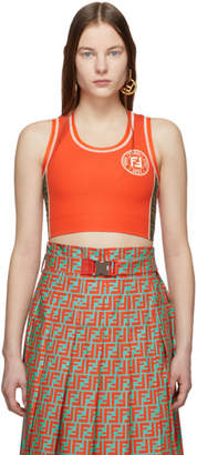 Fendi Orange Forever Sports Bra