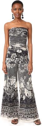 Fuzzi Strapless Jumpsuit $595 thestylecure.com