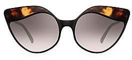 Linda Farrow Women's 871 C3 Tortoise Shell Cat Eye Sunglasses