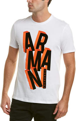 Armani Exchange Flocked Logo T-Shirt