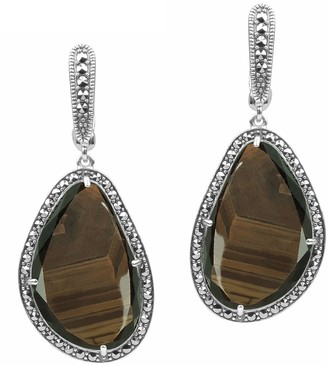 Suspicion Sterling Brown Sapphire & Marcasite Earrings