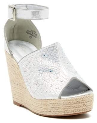 Ralph Lauren Lorraine Jillian Embellished Platform Wedge Espadrille Sandal
