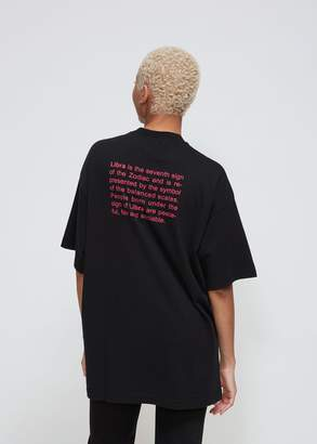 Vetements Libra Horoscope T-Shirt