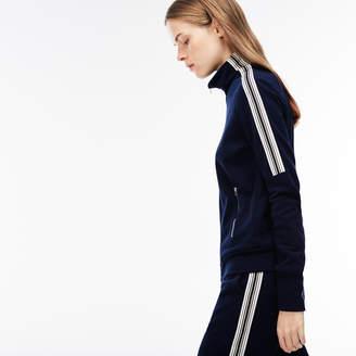Lacoste Women's Contrast Bands Zip Sweatshirt