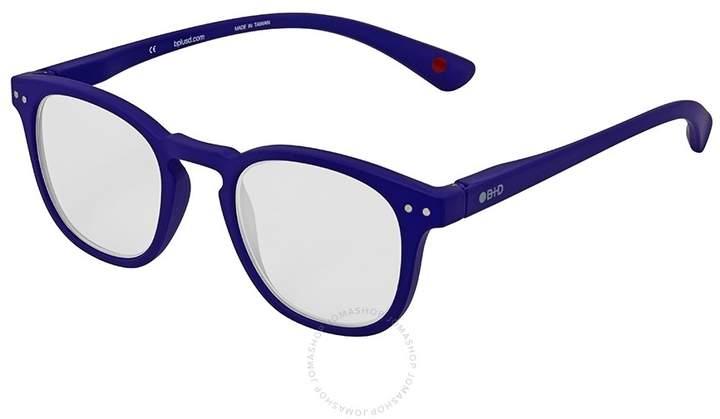 B+D Dot Reader Matt Blue Eyeglasses